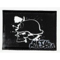Parche textil y bordado METAL MULISHA bandera 1 5cm x 7cm