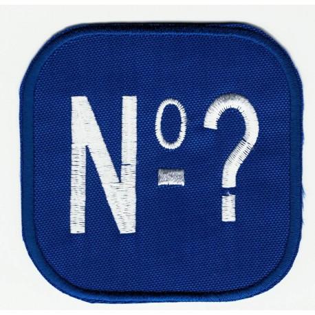 Parche bordado CROSSFIT TU NUMERO 6,5 cm x 6,5 cm