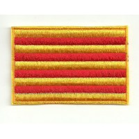 Patch embroidery FLAG CATALONIA 4CM X 3CM