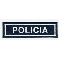 Parche bordado POLICIA 10,5m x 3cm
