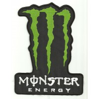 Patch embroidery MONSTER ENERGY BLACK 18cm x  25cm