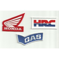 Patch embroidery PACK HRC HONDA GAS