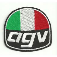 Parche bordado AGV 7cm x 6.5cm