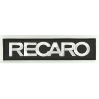 Patch embroidery RECARO BLACK / WHITE 90mm x 25mm