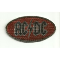 Parche textil AC DC ROJO 8,5cm x 4,5cm
