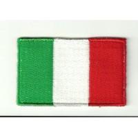 Parche bordado BANDERA ITALIA 4cm x 3cm