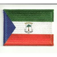 Parche bordado y textil Parche bordado BANDERA GUINEA ECUATORIAL 4CM X 3CM