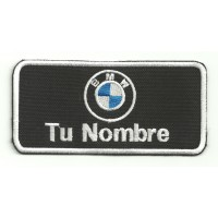 Embroidery Patch BMW CON TU NOMBRE 10cm X 5cm