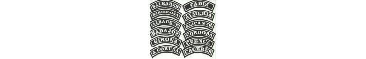 PARCHES COMUNIDADES Y PROVINCIAS ESPAÑOLAS
