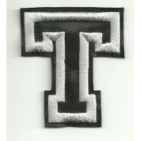 Patch embroidery LETTER T 5cm high