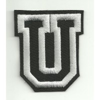 Patch embroidery LETTER U 5cm high