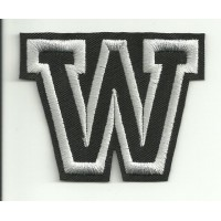Patch embroidery LETTER W 5cm high