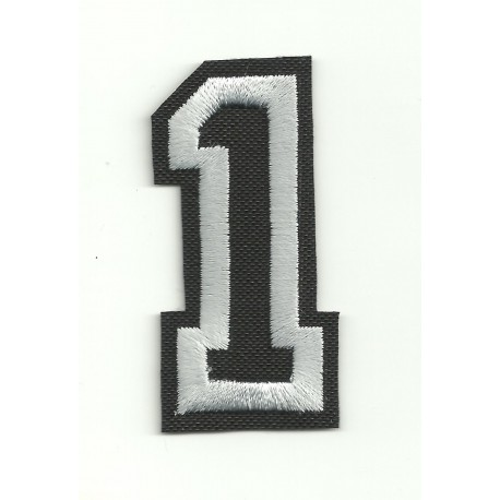 Patch embroidery LETTER 1 5cm high