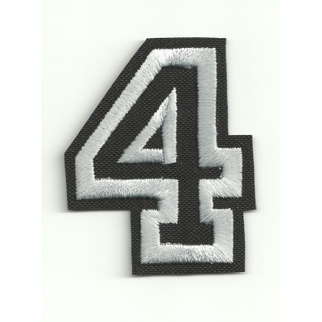 Patch embroidery LETTER 4 5cm high