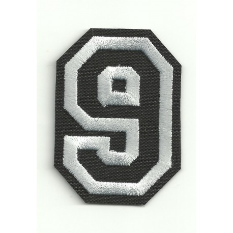 Patch embroidery LETTER 9 5cm high