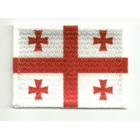 Patch embroidery and textile FLAG GEORGIA 4CM x 3CM