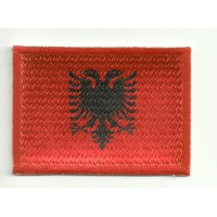 Patch embroidery and textile FLAG ALBANIA 4CM x 3CM