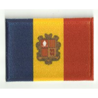 Parche bordado y textil BANDERA ANDORRA 4CM X 3CM