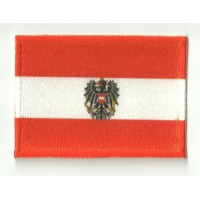 Parche bordado y textil BANDERA AUSTRIA 4CM x 3CM