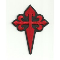 embroidery patch CRUZ DE SANTIAGO BLACK 9cm x 7cm