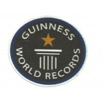 Textile patch WORLD RECORDS GUINNESS 8cm x 7cm