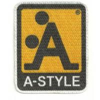 Textile patch A-STYLE 5cm x 6cm