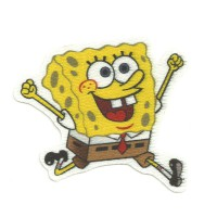 Textile patch BOB ESPONJA CORRIENDO 7,5cm x 7,5cm