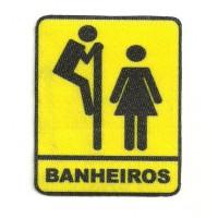 Parche textil BANHEIROS 5,5cm x 7cm