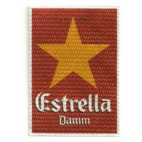 Textile patche ESTRELLA DAMM 6,5 CM x 9,5 CM