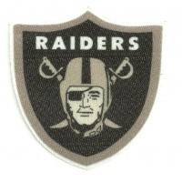 Textile patch RAIDERS 7,5cm x 7,5cm