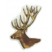 Textile patch DEER HEAD COLOR 8.5 cm x 8.5 cm