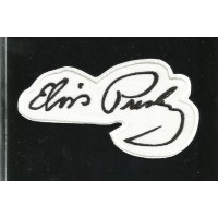 embroidery patch FIRMA ELVIS PRESLEY PERFIL 9cm x 5cm