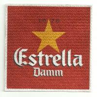 Textile patch ESTRELLA DAMM 8cm x 8cm