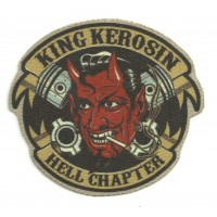 Parche textil KING KEROSIN HELL CHAPTER 9,5cm x 8,5cm