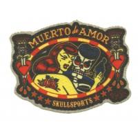 Textile patch MUERTO DE AMOR 10cm x 7,5cm