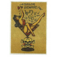 Parche textil SAILOR BEWARE 7,5cm x 10cm