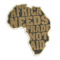 Textile patch AFRICA TRADE 9CM X 10CM