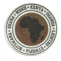 Textile patch AFRICA PAISES 8CM X 8CM
