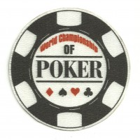 Textile patch POKER WORLD CHAMPIONSHIP 7,5cm x 7,5cm