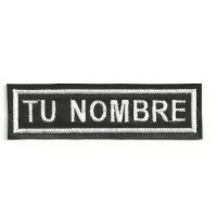 Embroidery Patch CON TU NOMBRE 10x2,4cm