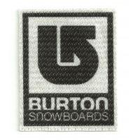 Textile patch BURTON SNOWBOARDS 10cm x 11,8cm