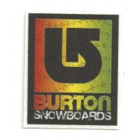Parche textil BURTON SNOWBOARDS COLOR 10cm x 11,8cm