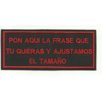 Embroidery Patch LAS FRASE BLACK/RED 14cmx6cm