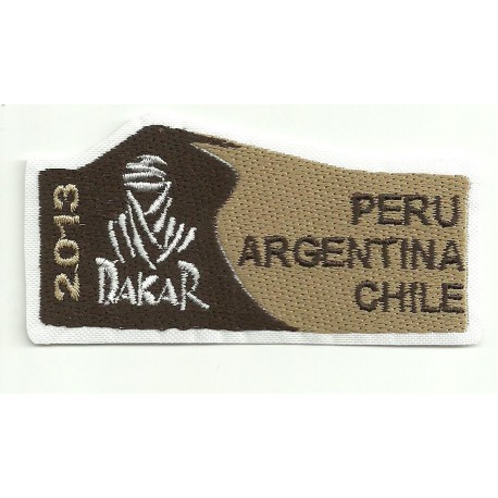 Patch embroidery DAKAR 2013 8,5cm x 4cm