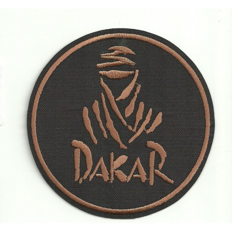 Patch embroidery DAKAR REDONDO NEGRO 7,5cm