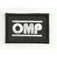 Patch embroidery OMP NEW BLACK WHITE 6cm x 4cm