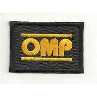 Patch embroidery OMP NEW BLACK YELLOW 9cm x 6cm