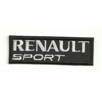 Parche bordado RENAULT SPORT NEGRO 9cm x 3cm