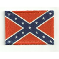 Textile and embroidered patch Rebellious or Confederate Flag 4cm x 3cm