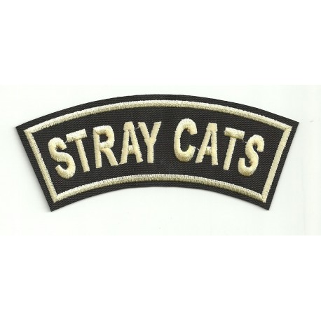 embroidery patch STRAY CATS 12cm x 4cm